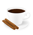 cup of coffee 03 vector image vector image