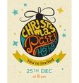 Christmas party ho ho ho invitation template vector image vector image
