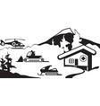 Mountain rescue service vector image vector image