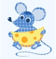 stitched mouse vector image vector image