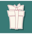 Abstract doodle gift box vector image vector image