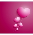 Rose heart for cad Valentines day vector image