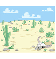 Desert landscape with cactuses vector image