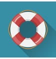 Lifebuoy flat icon vector image