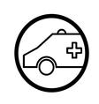 Ambulance symbol vector image