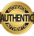 authentic gold label vector image