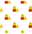 box of bricks pattern seamless vector image