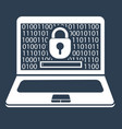 concept laptop security vector image