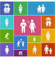 Family and friends icons vector image