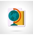 Flat color geography symbol icon vector image