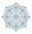 Round Mandala Monochrome 2 vector image
