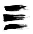 Set of ink brush stroke stains Grunge vector image