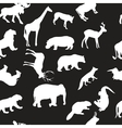 wild animals seamless pattern background vector image