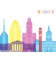 Baltimore V2 skyline pop vector image