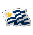 uruguay flag isolated icon vector image