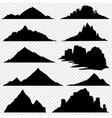 mountain ranges black silhouettes set vector image
