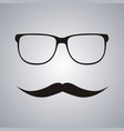 hipster glasses and mustache vector image