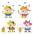 Cartoon circus clowns set vector image vector image