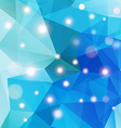 Polygonal abstract geometry background with shiny vector image