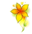 yellow flower vector image vector image