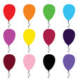 balloon cartoon art set in color vector image