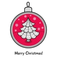 Christmas ball with decoration vector image