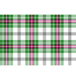 Green white pink tartan plaid seamless background vector image