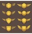 Heraldic shapes with wings vector image