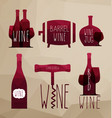 icon set - wine from the different vector image