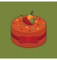 mexican cake vector image