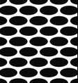 Monochrome seamless ellipse pattern background vector image