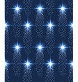 Seamless stars pattern in blue vector image