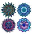 set of round ethnic ornament vector image