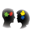 Puzzle mind vector image vector image