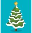 icon tree christmas snow design vector image