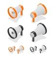 Megaphone Set Loudspeaker Symbol vector image