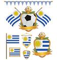 uruguay flags vector image vector image
