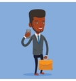 Business man making selfie vector image vector image