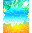 background sea beach vacation palm tree vector image