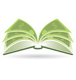 Money Book vector image vector image