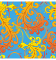 ethnic fish seamless pattern vector image