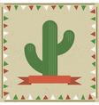 cactus decoration vector image
