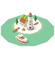 isometric lighthouse vector image vector image