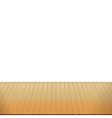 Brown wood floor on white background empty room vector image
