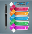 business infographics pen icon vector image