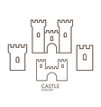 Castle Icon set Outline vector image