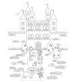 coloring wizard of oz 05 the emerald castle vector image