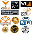 Free wifi zone signs vector image