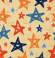 grunge stars paper pattern vector image
