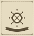 wheel- nautical theme vector image